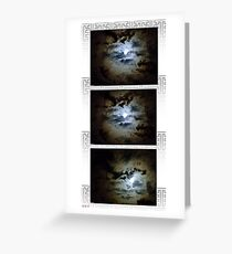 Moonx3 Greeting Card