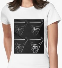 Infographic Womens Fitted T-Shirt