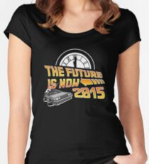 The Future is Now (Back to the Future) Women's Fitted Scoop T-Shirt
