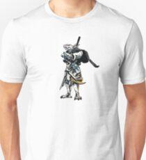 White Dragonborn Paladin T-Shirt
