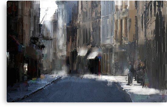 morning on trade street by Nikolay Semyonov
