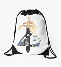 Breath Of The Wild Z Link Cover Drawstring Bag