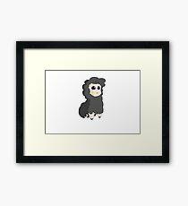 Cute cartoon black sheep  Framed Print