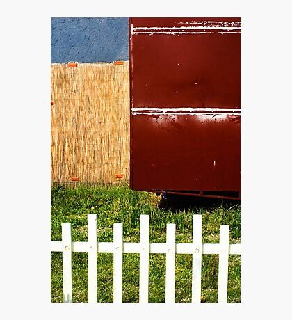 White fence abstract Photographic Print