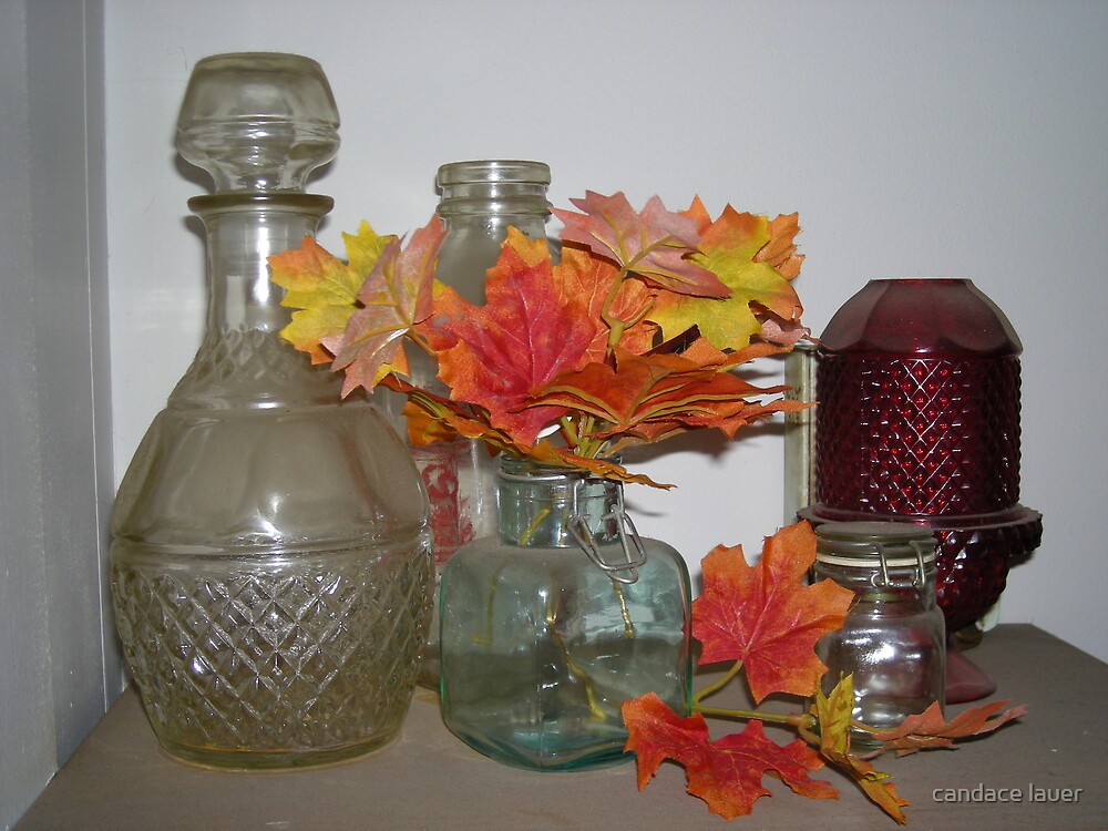 antiqued glass garden - fall - antiqued by candace lauer