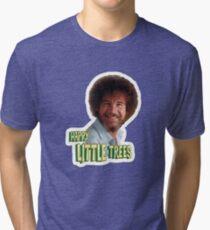 Bob Ross No Mistake Just Happy Little Trees Painter Design Tri-blend T-Shirt