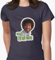 Bob Ross No Mistake Just Happy Little Trees Painter Design Womens Fitted T-Shirt