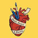 «Cabeza, corazón y bullicio» de MegsWhimsy