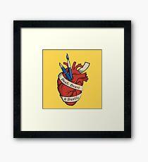 Head, Heart & Hustle Framed Print