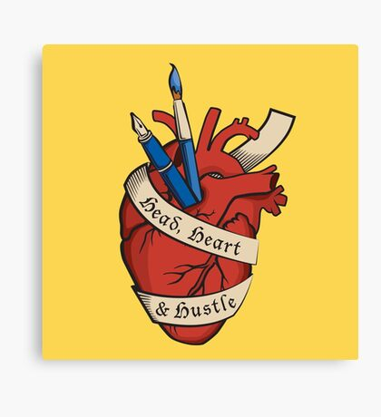 Head, Heart & Hustle Canvas Print