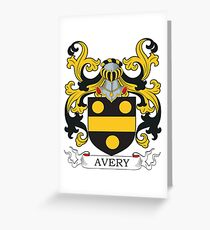Avery Coat of Arms Greeting Card