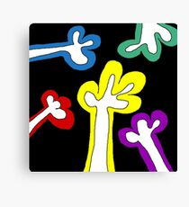 Colourful hands Canvas Print