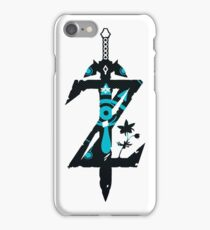 Breath Of The Wild Sheikah Slate Z Logo Initial iPhone Case/Skin
