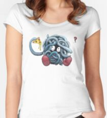 Pokemon pizza party- Tangela Women's Fitted Scoop T-Shirt