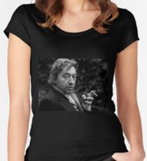serge gainsbourg smoking Women's Fitted Scoop T-Shirt