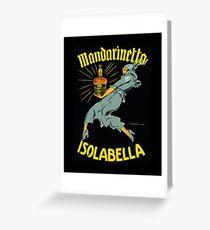 """Marcello Dudovich Art Deco Illustration """"Isolabella""""  Greeting Card"""