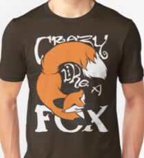 Crazy Like A Fox (Orange) Unisex T-Shirt