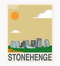 Visit STONEHENGE Travel Poster Photographic Print