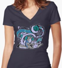Bag of Tricks (Night) Women's Fitted V-Neck T-Shirt