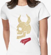 Buffy the Vampire Inspired Devil Skull  Women's Fitted T-Shirt