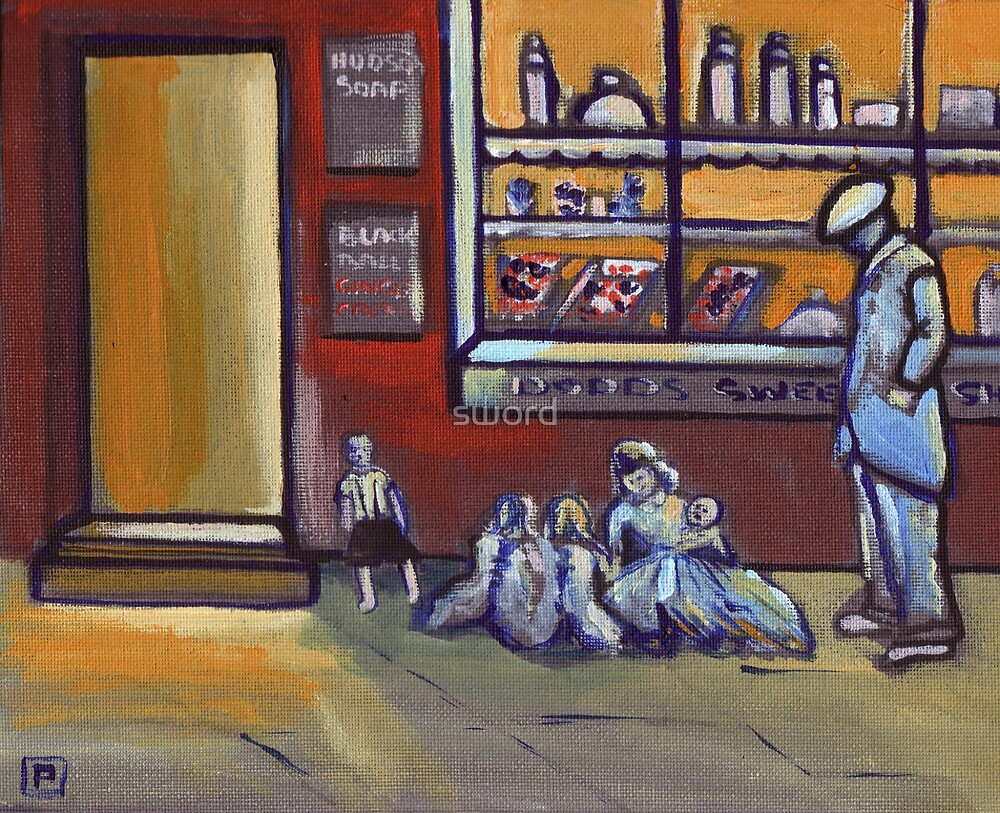 The sweet shop (from my original acrylic painting) by sword