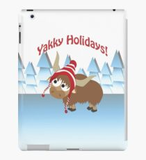 Yakky Holidays! Winter Scene iPad Case/Skin