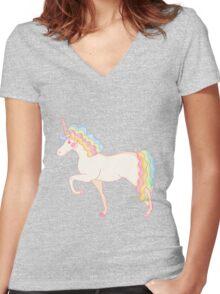 Unicorn Women's Fitted V-Neck T-Shirt