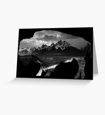 Wyoming Buffalo Tetons Greeting Card