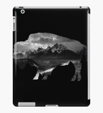 Wyoming Buffalo Tetons iPad Case/Skin