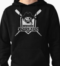 Wivenhoe Corsairs logo for dark backgrounds Pullover Hoodie