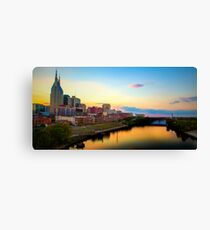 Nashville Skyline at Sunset Canvas Print