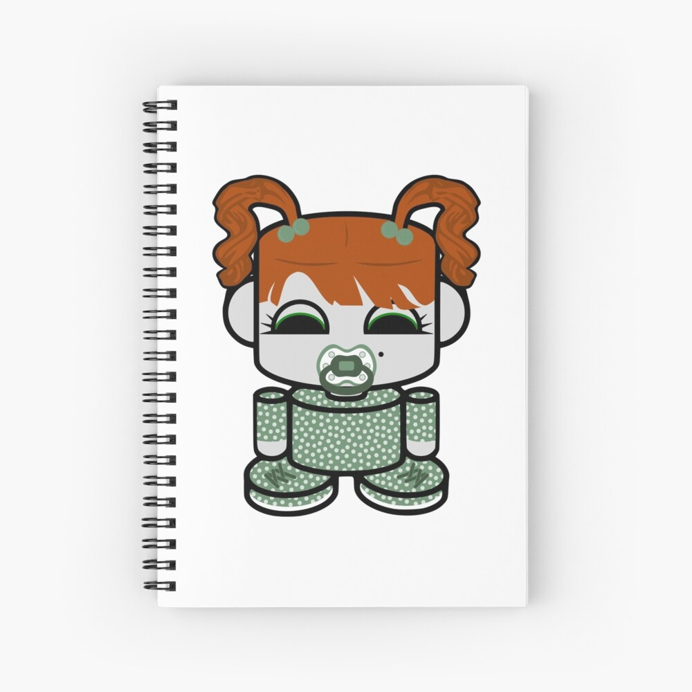 Dot O'BABYBOT Toy Robot 1.0 Spiral Notebook