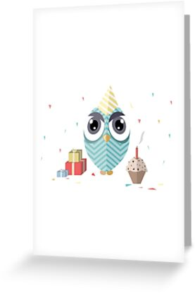 Happy birthday owl greeting cards by miruna illustration redbubble happy birthday owl by miruna illustration m4hsunfo