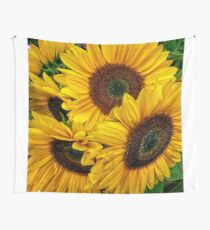Sunflower Bouquet Wall Tapestry