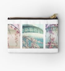 Greenhouse Blossoms Triptych Studio Pouch