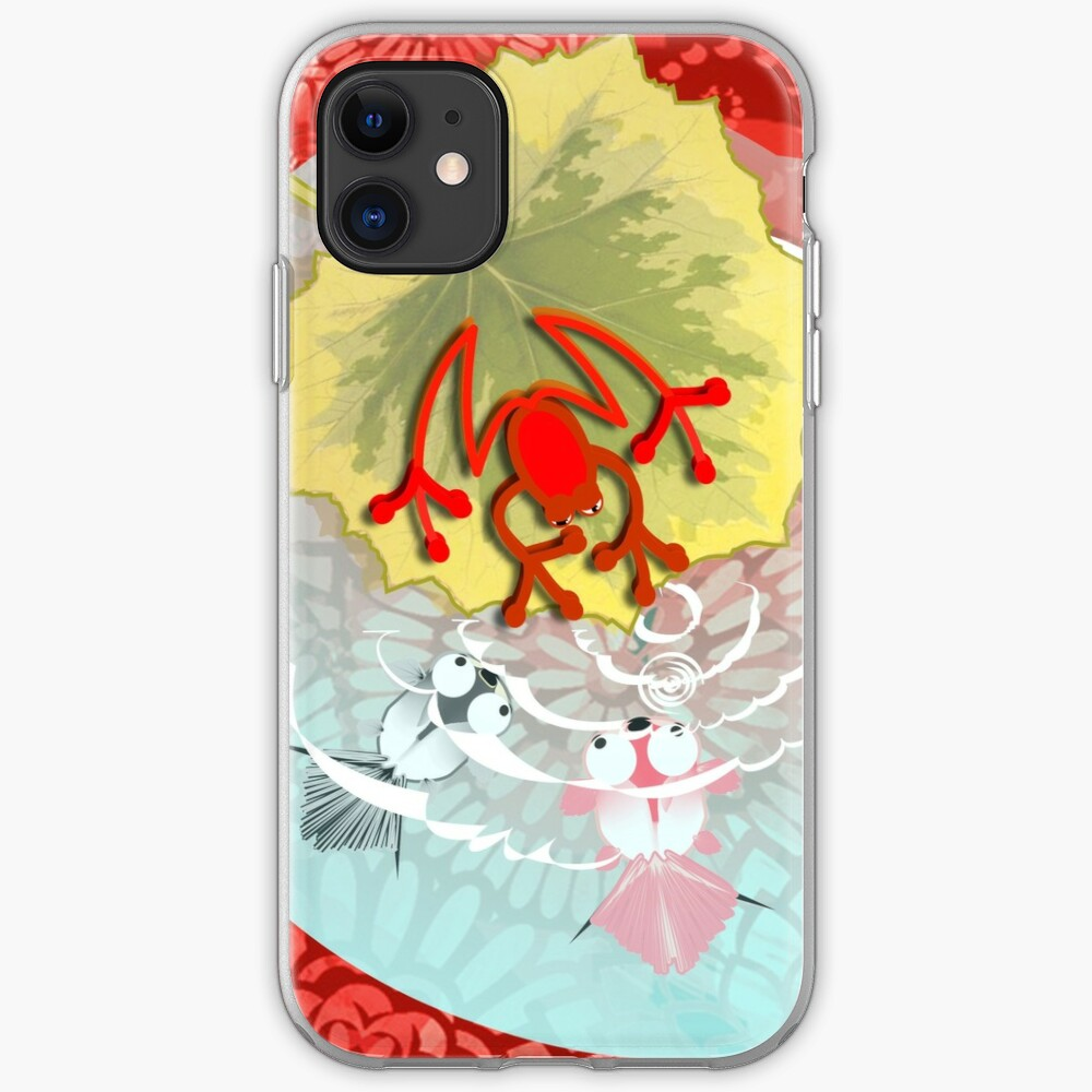 RED FROG - RedFrog in the Kois Pond iPhone Case & Cover