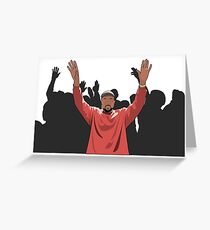 Kanye Crowd Greeting Card