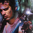 Jeff Buckley acrylic painting by Nathan Howell