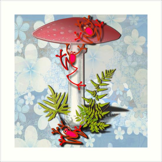 REF FROG - RedFrog and the Mushroom by Kartoon