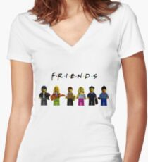friends parody lego Women's Fitted V-Neck T-Shirt