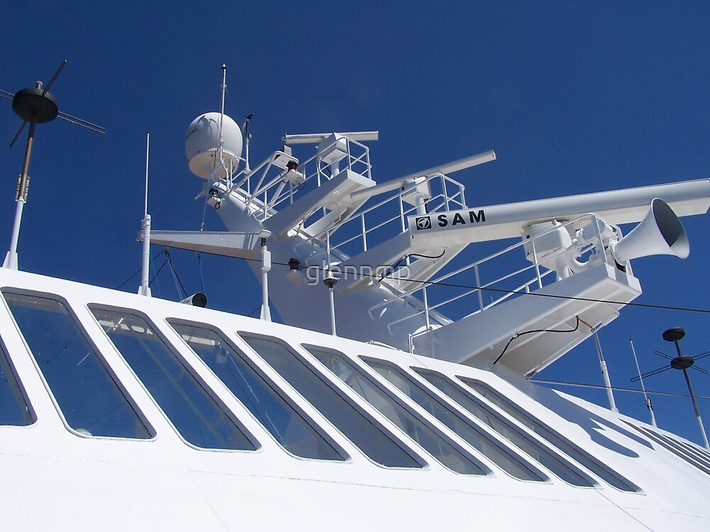 Radar Tower On Cruise Ship By Glennmp Redbubble - Cruise ship trackers
