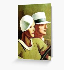 """Dudovich Book Cover """"Beautiful and The Damned""""  Greeting Card"""