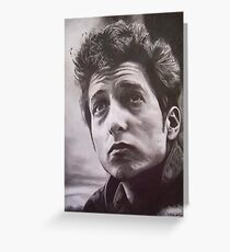 Bob Dylan pencil sketch Greeting Card
