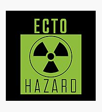 Ghostbusters Warning: Ecto Hazard Photographic Print