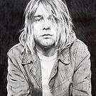 Kurt Cobain pencil sketch by Nathan Howell
