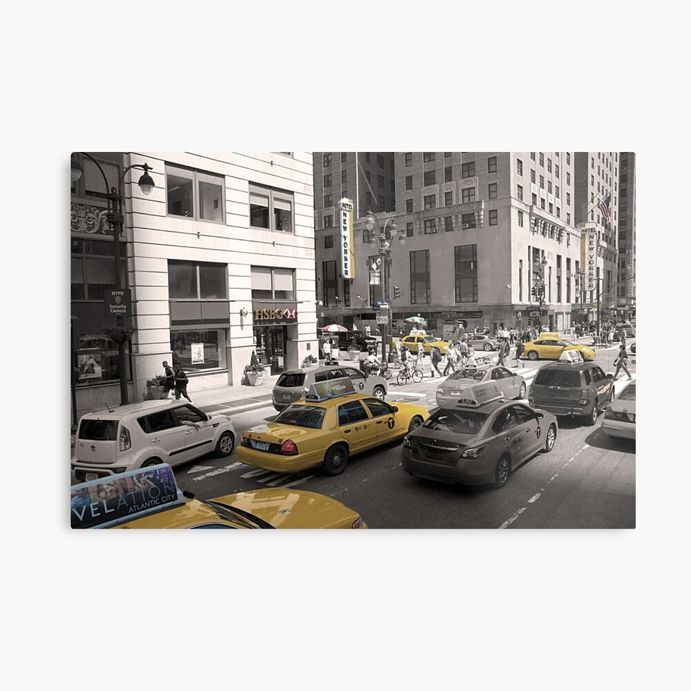 Yellow Cabs of New York Metal Print