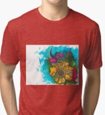 swish-floral Tri-blend T-Shirt