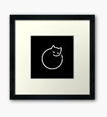 Minimal cat (black) Framed Print