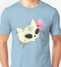 Cat Skull Vanitas Unisex T-Shirt