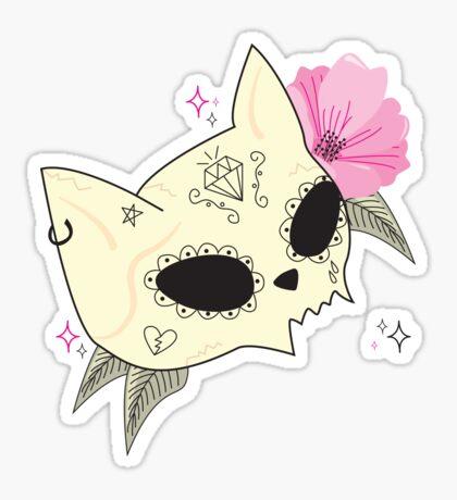 Cat Skull Vanitas Sticker